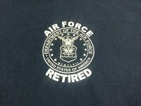 Air Force Retired Mens T Shirt Size XL Blue Short Sleeve Crewneck Cotton