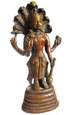 VISHNU Statue aus Messing Hinduismus H=25 cm Vischnu Wischnu Garuda Wishnu Brass