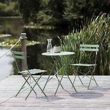 Deluxe Garden Bistro Outdoor Metal Patio Set Weather Proof Folding Furniture UK