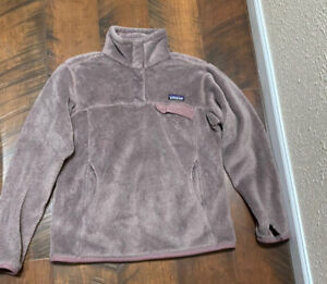 Patagonia 1/2 Button Rosewood Fuzzy Fleece Jacket Women's M