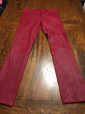 $1295 NEW TAMARA MELLON Sz 8 Women's Red Lamb Leather Leggings Pants NWOT