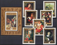 TWO IN ONE - HUNGARY 1970. PAINTINGS SET WITH SHEETS GARNITURE MNH (**)