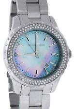 MICHAEL KORS MK5451 MADISON Silver Tone Crystal Bezel Blue Dial Women Watch