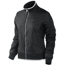 Nike Black Grey Ladies small S Reversible Flc Taff varsity Jacket Atlethic Dept