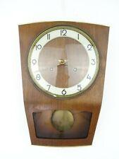 German HAID Vintage Antique Wall Clock Mid Century 8 day (Junghans Hermle era)