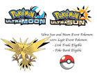 Pokemon Ultra Sun and Moon Hidden Ability Aldoras Zapdos Event Pokemon