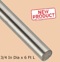 "Solid Round Rod Stock 3/4 Inch x 6 Ft 72"" Stainless Steel Unpolished Annealed"