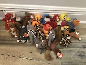 Lot of 19 Teenie Beanie Ty Babies