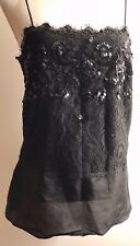 Josie Natori Camisole With Lace and Sequins Size Small Excellent Condition!!
