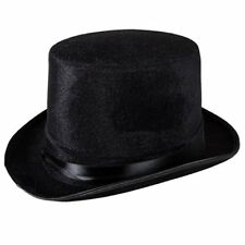 2a03cceef6a59 Black Deluxe Top Hat Magician Costume Mat Hatter Wedding Christmas Party  Formal