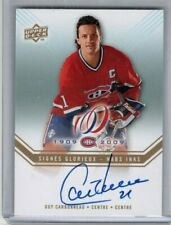 GUY CARBONNEAU 2008-09 Montreal Canadiens Centennial AUTO Upper Deck HABS INKS