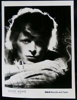 David Bowie Photo B/W Vintage RCA Promo Young Americans Circa Late 70's