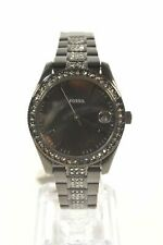 Fossil ES4508 Scarlette Mini Three-Hand Date Black Stainless Steel Ladies Watch
