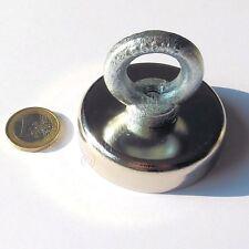 Super Magnete al Neodimio OTN-60 POTENZA 130 Kg CON OCCHIELLO IN ACCIAIO ZINCATO