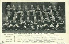 More details for 1905 the new zealand football team - invincibles tuck's postcard, rare/exc!