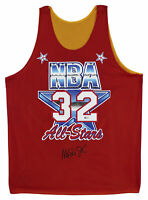 Lakers Magic Johnson Signed 1991 M&N HWC Reversible All Star Jersey BAS Witness