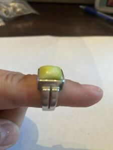 Silpada Sterling Silver Green Mother of Pearl R1270 Ring MOP Square Solid Size 8