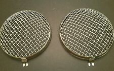 pair Vintage VW Bug bus 356 headlight accessory rock gaurd covers 56 57 58 59 60