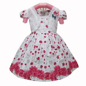baby girls summer dress 6-12 months SMALL FLORA cotton holidays dress Uk seller