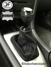 Black stitch fits saab 93 9-3 ss 2003+ gear gaiter noir en cuir véritable