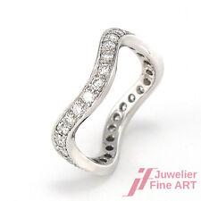Niessing Ring - *Wellenform* 18K  WG - Memoire - Brill. ca. 0,60 W/VS - 3,5 g