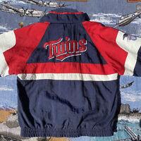 Vintage 90s Men's Medium Minnesota Twins Apex One Windbreaker Jacket