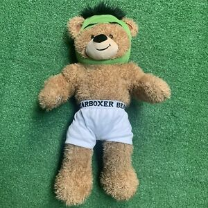 "Build A Bear Brown ""Bear Boxer"" 20"" Underwear Plush Green Mask Outfit"