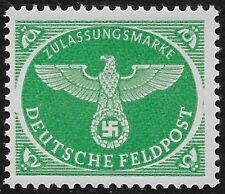 Germanys Third Reich 1944 Mi 4 Fieldpost Stamp For Christmas MNH