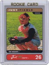 LP~RC~JOE MAUER 2002 Justifiable Silver ROOKIE CARD~02~MVP~ALL-STAR~AS~TWINS~MIN