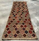 Authentic Hand Knotted Afghan Nokaar Balouch Wool Area Runner 7 x 2 Ft