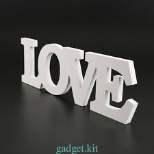Hot Wedding Room Party Letter Decoration LOVE Sign White Wooden Decor NGE43
