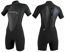O'NEILL BAHIA LADIES S/S SPRING WETSUIT 2/1MM – COLOR: BLACK – SIZE: 14 – NEW!!!