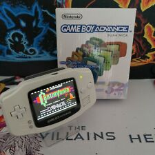 GameBoy Advance GBA New Backlit IPS V2 Screen New White Shell Buttons Bumpers