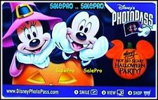 DISNEY 2010 USA PHOTOPASS HALLOWEEN NIGHT MICKEY MINNIE COLLECTIBLE PIX CARD