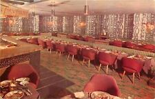 Rochester NY~Hearth and Embers Restaurant Dining Area~Long Booth 1961 Postcard