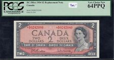 1954 Bank of Canada $2 Replacement Note - PCGS Very Choice New 64PPQ *R/R0242080