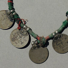 an old antique traditional coin necklace from nepal #11