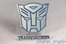 Polished Chrome Protect Transformers Autobot Logo Car Badge Emblem Sticker Decal