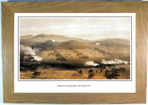 Charge of the Light Brigade, framed print picture, Crimean war military cavalry