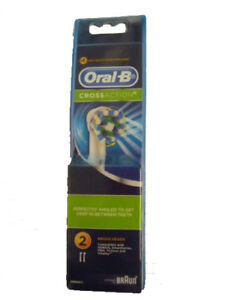 NEW Oral-B CrossAction Electric Toothbrush 2 Replacement Heads FREE AU SHIPPING
