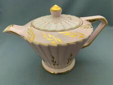Vintage Sadler Pink & Gold Large Teapot.Rare.