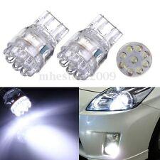 2X White T20 7443 7440 9 LEDS Brake Turn Signal Rear Lights Bulbs Lamps DC 12V