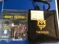"""New MANNY PACQUIAO 7"""" FIGURE BLUE  MINDSTYLE With Bag And Certificate"""