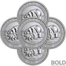 2015 Silver 1.5 oz Canada Polar Bear & Cub (5 Coins)