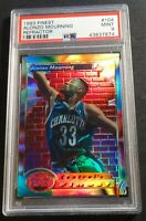 1993 ALONZO MOURNING TOPPS FINEST REFRACTOR HOF #104 PSA 9 POP 10 (813)