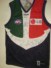 FREO DOCKERS TEAM HAND SIGNED JERSEY UNFRAMED + PHOTO PROOF + C.O.A