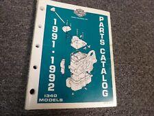 1991-1992 Harley Davidson Low Rider Convertible Sport Engine Part Catalog Manual