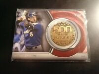 2016 Topps Update 500 HR Futures Club Commemorative Medallion Ryan Braun 500M-3