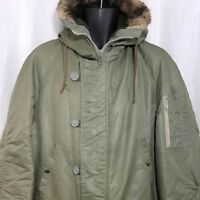 JCPenney Towncraft N-3B Parka Snorkel Jacket Vintage 70s Coat Made In USA Large