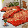 Red Gold Mandala Duvet/Doona/Quilt Cover Set Queen/King Size Indian Bedding Set